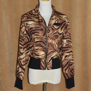 Members Only Tiger Print Crop Jacket